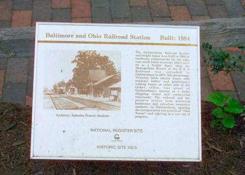 B&O Railroad Station Wayside Marker