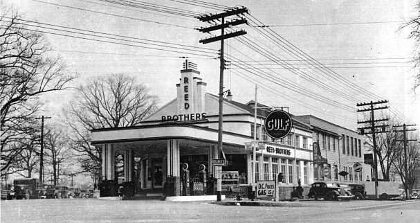 1940s Gulf Gasoline Station