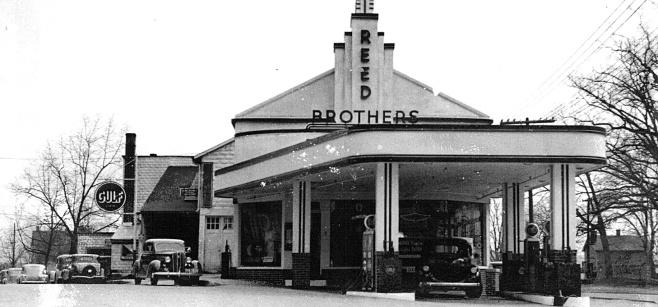 1940s Gulf Gasoline Station