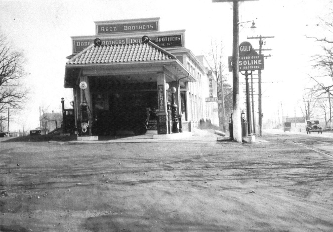 Early 1930s Gulf Gas Station