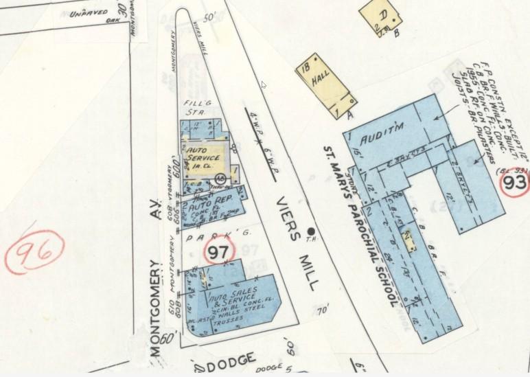 June 1949 Rockville Sanborn Map, Sheet 10, Revised Jan 1960