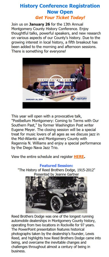 2019 Montgomery History Conference