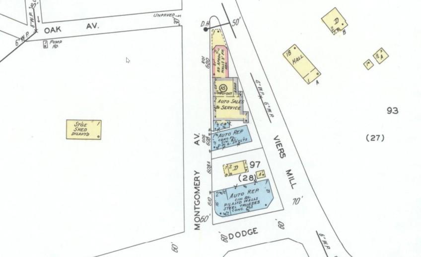June 1949 Rockville Maryland Sanborn Map