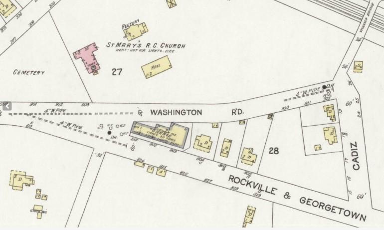 Nov 1924 Rockville Maryland Sanborn Map