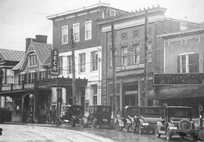 Valentine Wilson's Seco Theater in Rockville after its move from Montgomery Ave to Commerce Lane